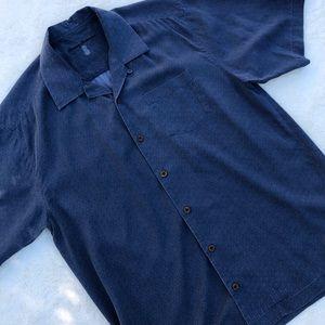 Tommy Bahama Mens 100% Silk Button Down Shirt sz M